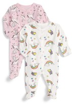 Infant Girl's Rosie Pope 2-Pack Footies