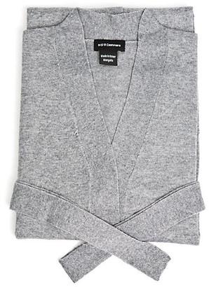 A & R Cashmere A&R Cashmere Cashmere-Blend Robe - Gray - a&R Cashmere - cream/black