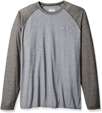 Columbia Men's Big and Tall Thistletown Park Big & Tall Raglan Tee Grey Ash Grill Heather 2X