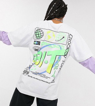 Crooked Tongues double layer long sleeve t-shirt with solar back print