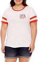 Arizona Mermaid in the USA Graphic T-Shirt- Juniors Plus
