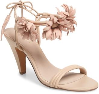 Cecelia New York Flower Ankle Wrap Sandal