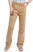 Roundtree & Yorke Casuals Big & Tall Straight-Fit Twill Pants