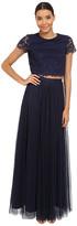 Donna Morgan Amelia Cap Sleeve Top w/ Tulle Skirt