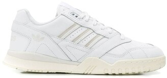 adidas white AR leather low top sneakers