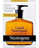 Neutrogena Liquid Facial Cleansing Formula, 8-Ounce Pump Fragrance Free (Pack of 4) by Salamander99