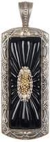 Konstantino Sterling Silver & 18K Gold Iris Gloss Rectangular Pendant