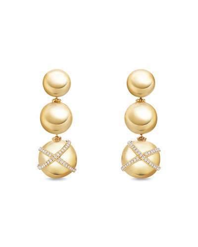 David Yurman Solari Triple-Drop Earrings with Diamonds