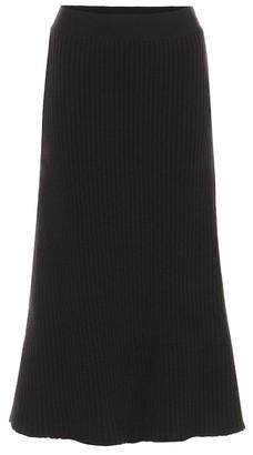 Bottega Veneta Ribbed-knit midi skirt