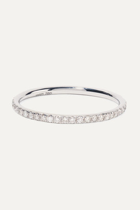 Ileana Makri Thread 18-karat White Gold Diamond Ring