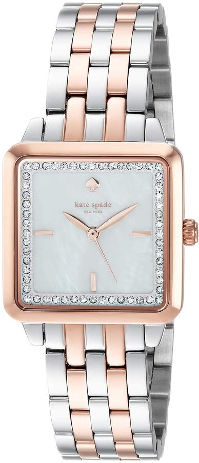 Kate Spade Women's 'Washington Square' Quartz Stainless Steel Casual Watch, Color:Rose Gold-Toned (Model: KSW1340)