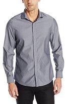 Perry Ellis Men's Slim Fit Dobby Stripe Shirt