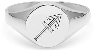 Myia Bonner Sagittarius Signet Ring In Sterling Silver