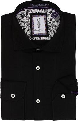 Robert Graham Men's Huxley Tailored Fit Stretch Dress Shirt