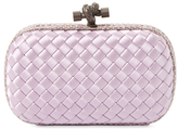 Bottega Veneta Intreccio Ayers & Satin Knot Clutch