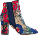 Aquazzura 'Kaia' embroidered boots - women - Leather/Velvet - 36