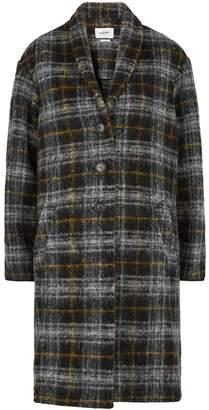 Etoile Isabel Marant Gabriel Checked Wool-blend Coat