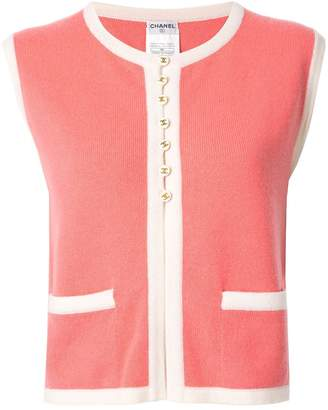 Chanel Pre Owned Two-Tone Cashmere Vest