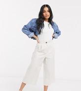 Asos DESIGN Petite linen culottes in stripe