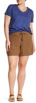 Supplies Sybil Linen Blend Solid Short (Plus Size)