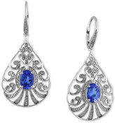 Effy Tanzanite Royale by Tanzanite (2-1/4 ct. t.w.) and Diamond (1/3 ct. t.w.) Drop Earrings in 14k White Gold