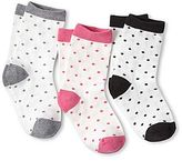 Joe Fresh Joe FreshTM 3-pk. Dotty Crew Socks - Girls 1t-5t