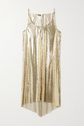 Paco Rabanne Draped Chainmail Dress - Gold