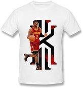 Fire-Dog-Custom Tees Men's Cleveland Cavaliers Kyrie Irving Short Sleeve Tee Size XL