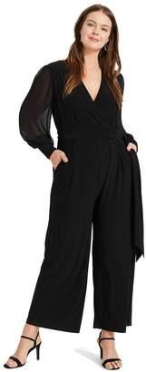 Studio 8 Womens Black Denver Wrap Jumpsuit - Black
