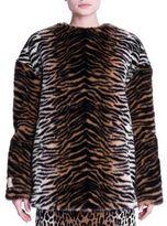 Stella McCartney Tiger Print Faux Fur Top
