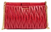 Miu Miu Matelasse Leather Clutch - Red