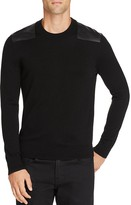 The Kooples Leather Patch Wool Sweater