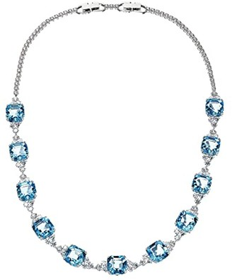 Swarovski Sparkling Necklace (Aquamarine) Necklace