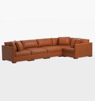 Rejuvenation Wrenton Luxe 5-Piece Leather Sectional Sofa