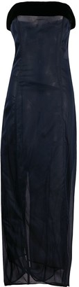 Gianfranco Ferré Pre-Owned Strapless Two-Tone Maxi Dress