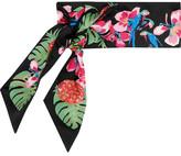 Valentino Printed Silk-twill Scarf - Black