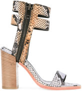 Diesel printed block heel sandals