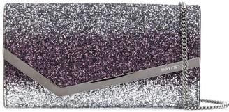 Jimmy Choo Emmie glitter clutch bag