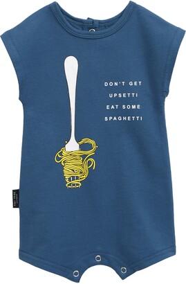 TINY TRIBE Spaghetti Graphic Romper