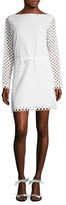 Carven Eyelet Boatneck Dress