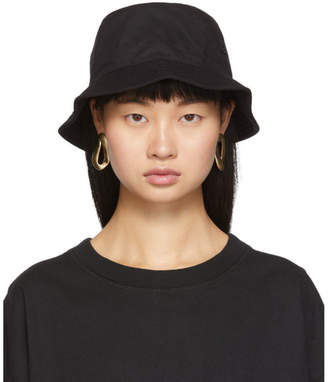 Acne Studios Black Twill Face Bucket Hat