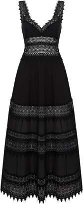 Charo Ruiz Ibiza Sophia Lace Trim Maxi Dress