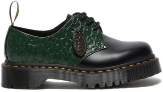 Dr. Martens X X-Girl black and green 1461 Derby shoes