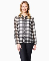 Charming charlie Plaid Lace Top