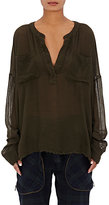 Faith Connexion Women's Gauze Tunic-DARK GREEN