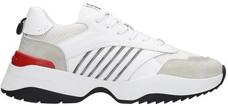 DSQUARED2 D24 Sneakers In White Suede And Leather