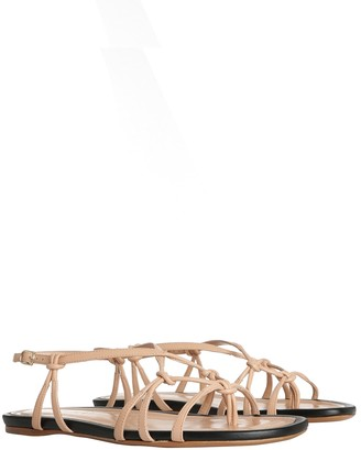 Zimmermann Knotted Strap Flat Sandal