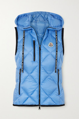 Moncler Sucrex Hooded Quilted Shell Down Vest - Blue