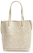 Madewell Medium Transport - Splatter Paint Edition Leather Tote - Ivory