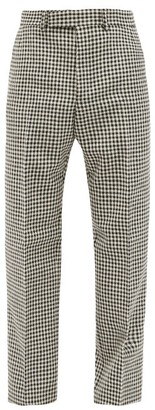 Thom Browne Houndstooth-check Wool Trousers - White Black